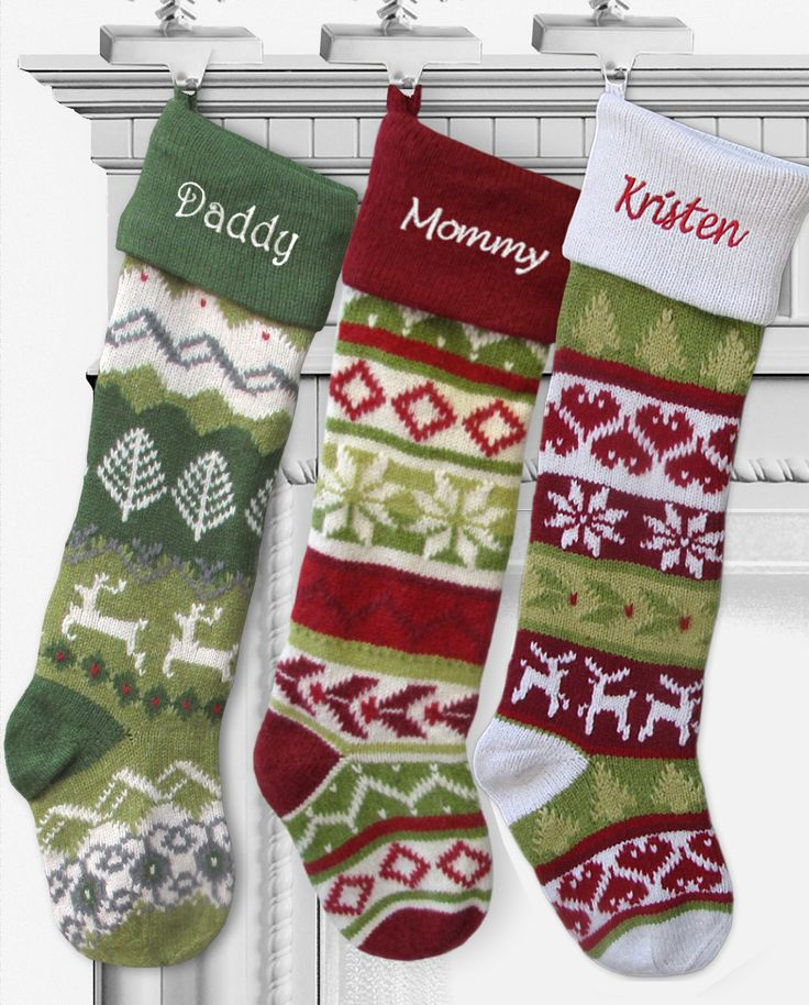 Best 25+ Personalized knit christmas stockings ideas on Pinterest ...