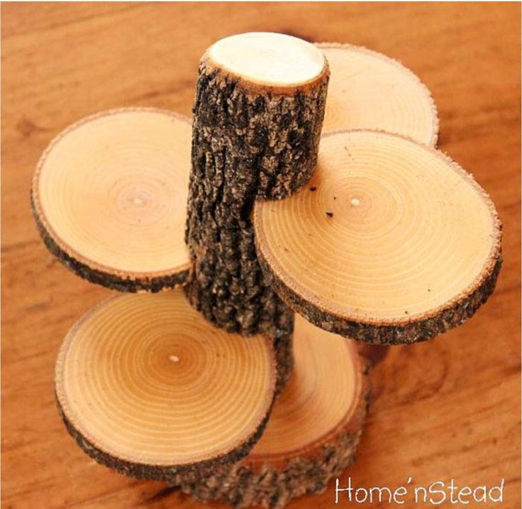 Rustic Cup Cake Stand