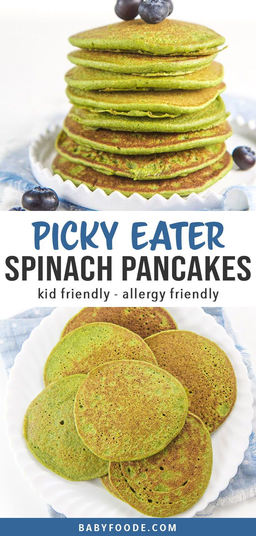 Easy Blender Spinach Pancakes for Baby + Toddler (Allergy ...