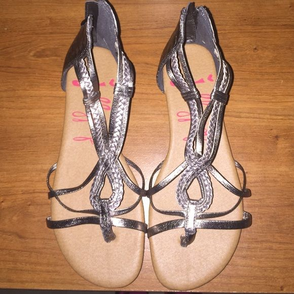 Jellypop sandals Gold and silver never worn Jellypop Shoes Sandals