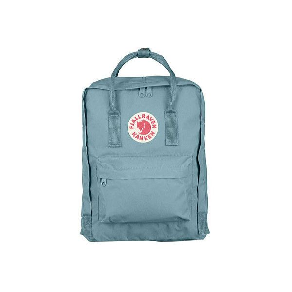 Fjallraven Kanken Backpack ($75) ❤ liked on Polyvore featuring bags, backpacks, blue, backpack bags, fake bags, blue evening bag, fjallraven bag and blue backpack