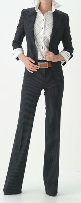 office attire ✤<<< Love a long trouser pant nice fit