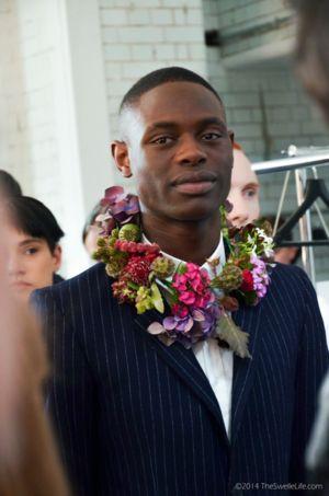 Flower collars for Matthew Miller #FlowerInspo #Design #DesignInspo