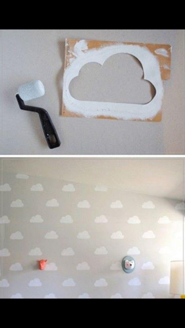 Cloud nursery wall idea