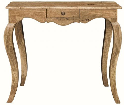 Country rustic French Leg Small Console Table
