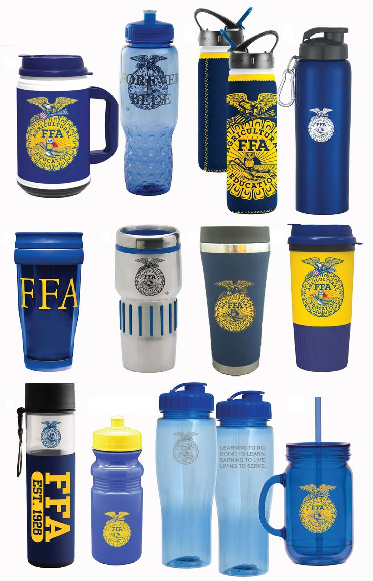 FFA tumblers, water bottles and thermoses all found at Shop FFA