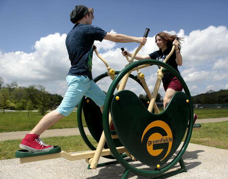 Outdoor fitness zone installed near Rotary Park provides easy, accessible exercise