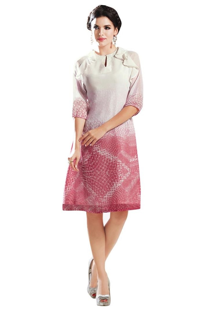 #Off #White And #Peach #Georgette #Kurti.  Off White And Peach Georgette Printed Work Kurti.Product colour & Patch Patta.  INR:959.00  With Exclusive Discounts  Grab:http://tinyurl.com/jkgr4hc