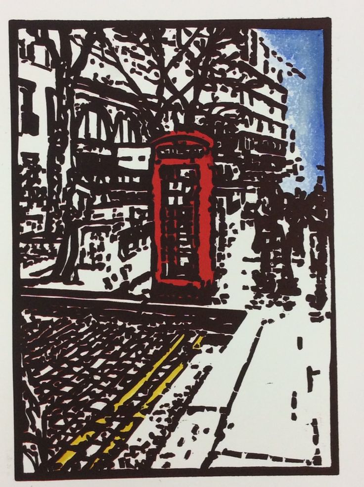 Final print of my 'London Phonebox' with some hand coloured highlights as well. Quite happy with the result.