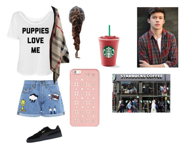 """Starbucks date with Nick Robinson"" by leahbieberhoranrobinson ❤ liked on Polyvore featuring Paul & Joe Sister, Puma and MICHAEL Michael Kors"