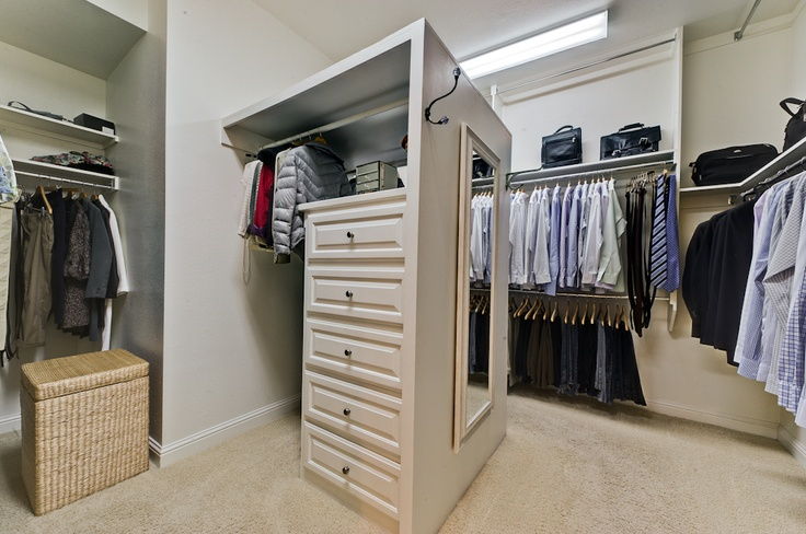 """The """"Master's"""" master closet, staged to sell, Mckinney, TX"""