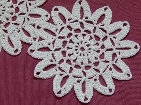 Сrochet Flower motif. Tutorial. - YouTube #crochet #knitting #crochetpattern #freepattern #videotutorial