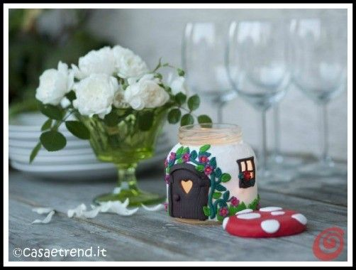 DIY Mushroom House Candle Jar