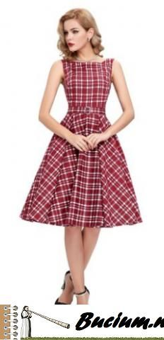 GRACE KARIN® Sleeveless Cotton Vintage Tea Dress with Belt VL6086 (Multi-Colored)