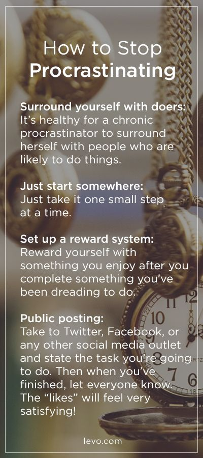It's time to STOP procrastinating! www.levo.com