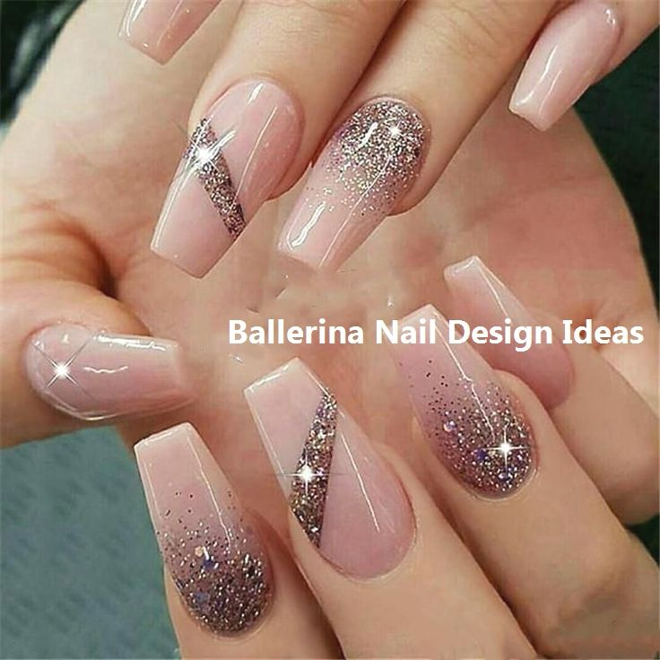 Trendy Ballerina Nail art 2019 #nailideas