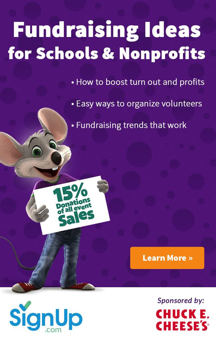 Free resources, tips, and ideas from SignUp.com and Chuck E. Cheese's to make…