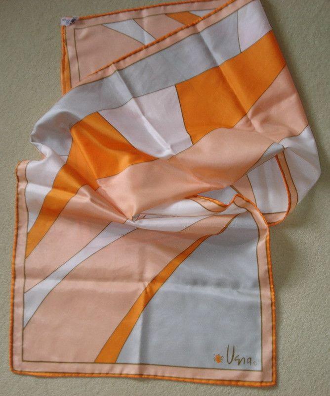 Vera Neumann LADYBUG Abstract Vintage 60s Japan Long Pastel Multi Scarf Sash