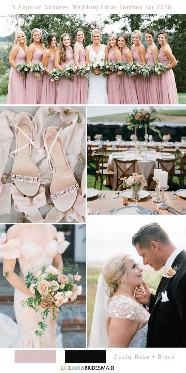 9 Popular Summer Wedding Color Combos for 9  Summer wedding