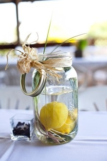 Cute Simple Centerpiece From A Country Wedding Wedding