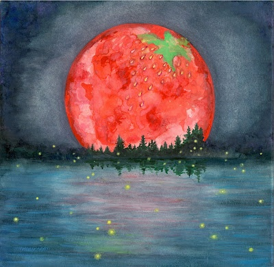 Celebrate the Full Strawberry moon...June 3/4.... • Full Strawberry Moon – June This name was universal to every Algonquin tribe. However, in Europe they called it the Rose Moon. Also because the relatively short season for harvesting strawberries comes each year during the month of June . . . so the full Moon that occurs during that month was christened for the strawberry!