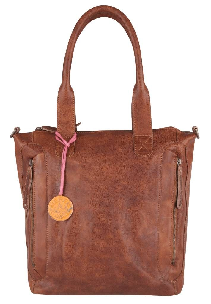 Merel by Frederiek Lockport Bag Fudge Cognac