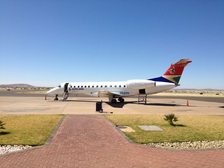 The plane having just arrived in Upington from Cape Town (11/8/13)