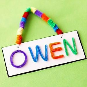 Chenille Stem Letters - Time to practice the alphabet? Teach your child how to fashion the letters of his name with brightly colored chenille stems. For more kids room decorating and organizing ideas visit https://www.facebook.com/KidsRoomDecor you may find something you 'LIKE'