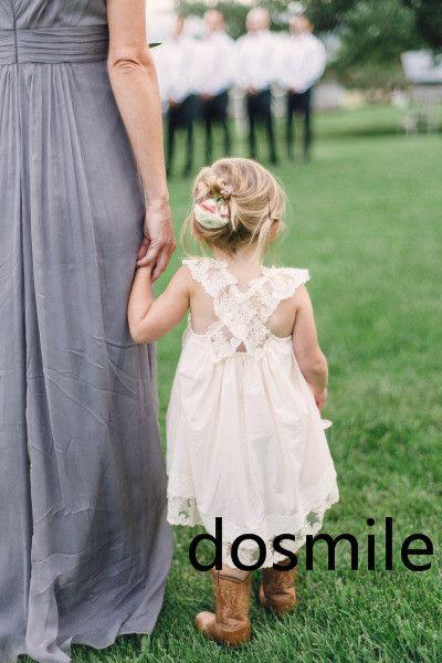 От кутюр трапециевидный чай длина кружево ремни белый и слоновая кость платье день рождения цветок девочка платье театрализованное ручной работы для свадьба