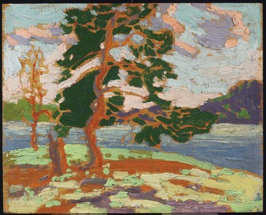 Thomson, Tom, Canadian, 1877 - 1917 Pine Tree c. 1915 Oil on wood panel