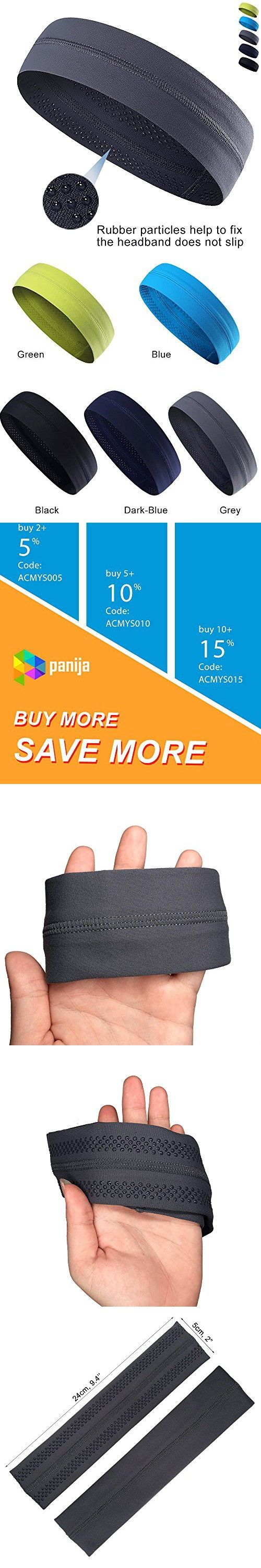 Cooling Headband That Can Absorb Sweat And Which Has A Very High Elasticity, Very Useful for Fitness, Gym, Yoga, Great For Women And Men (Grey)