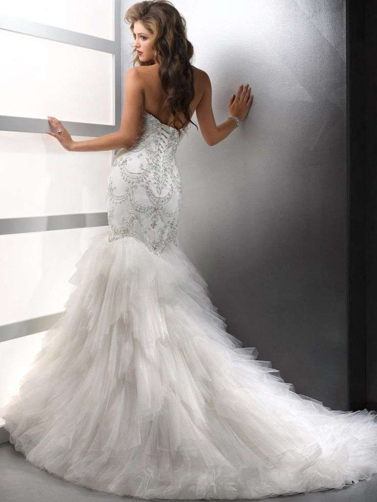 Backside Of Beautiful Bling Gown