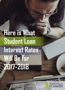 Student loan interest rates are now set for the upcoming 2017-2018 academic year. They're going to be going up by about 0.7% across the board.