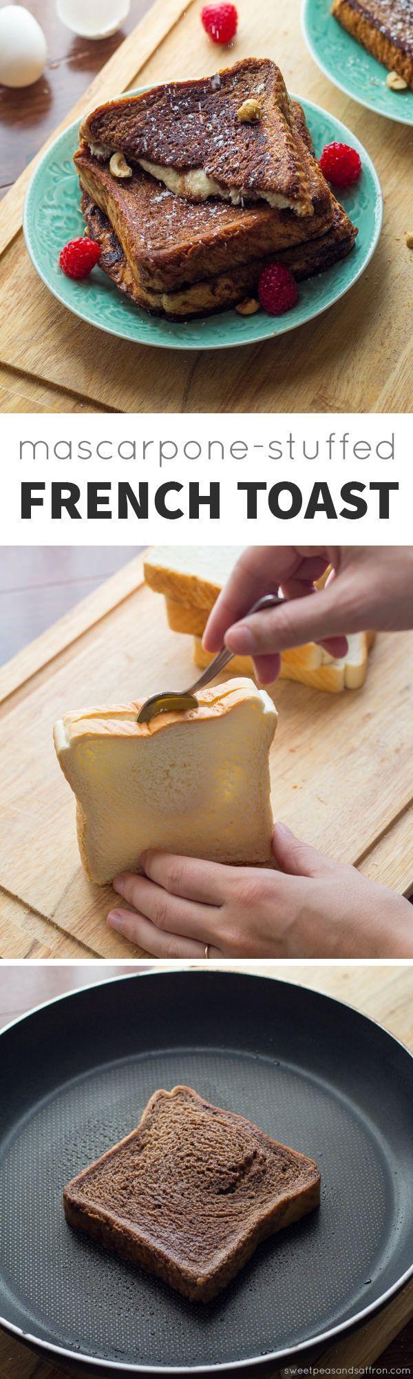 Mascarpone-Stuffed Chocolate Espresso French Toast @sweetpeasaffron