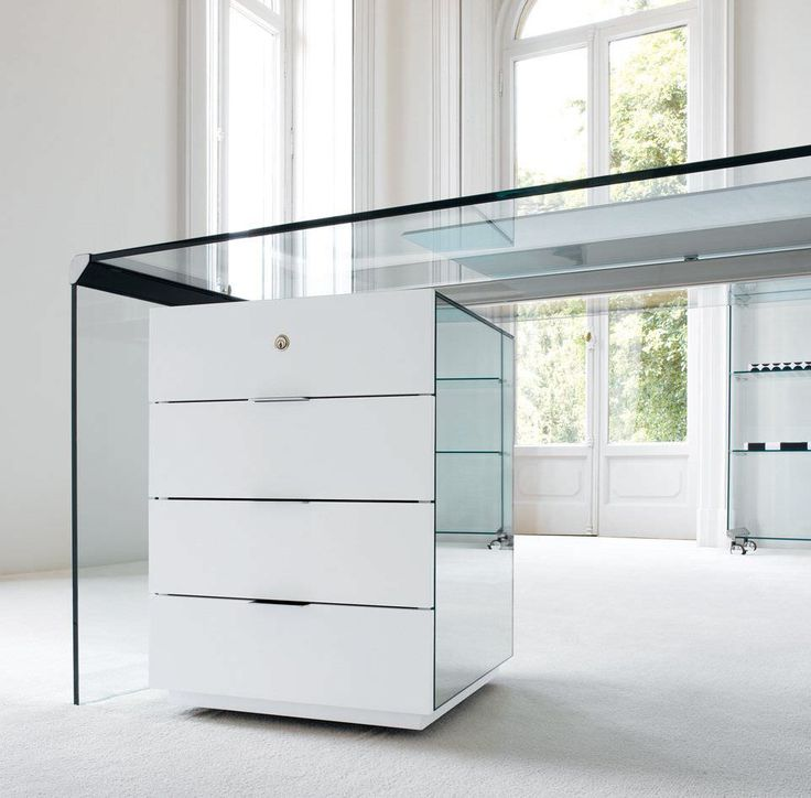 Contemporary glass writing desk - PRESIDENT SENIOR - Gallotti&Radice