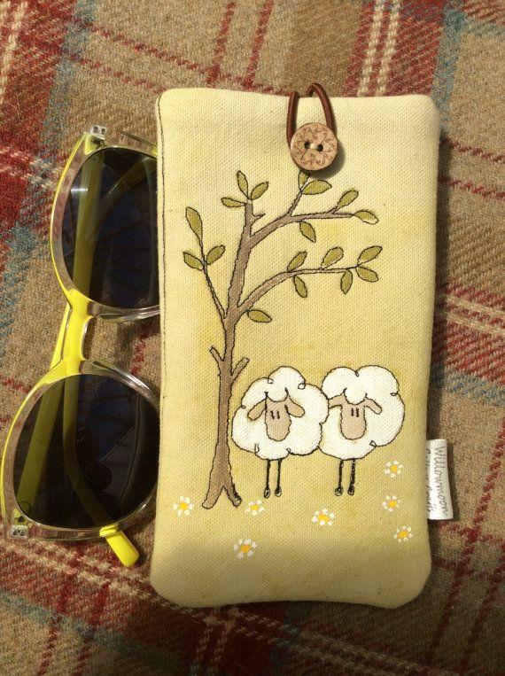 Handmade glasses or phone sleeve  Little by WillowmoonDesignsGB