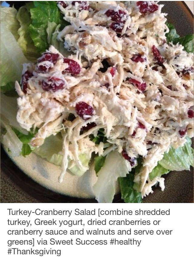 Thanksgiving eating clean turkey salad