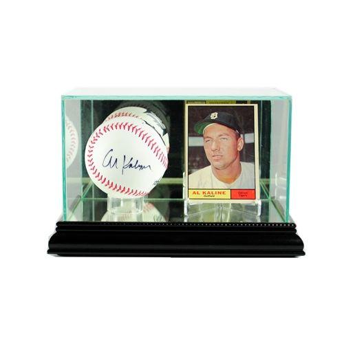 Glass Baseball & Card Display Case - Baseball & Card Display Holder - Personalized - Engraved