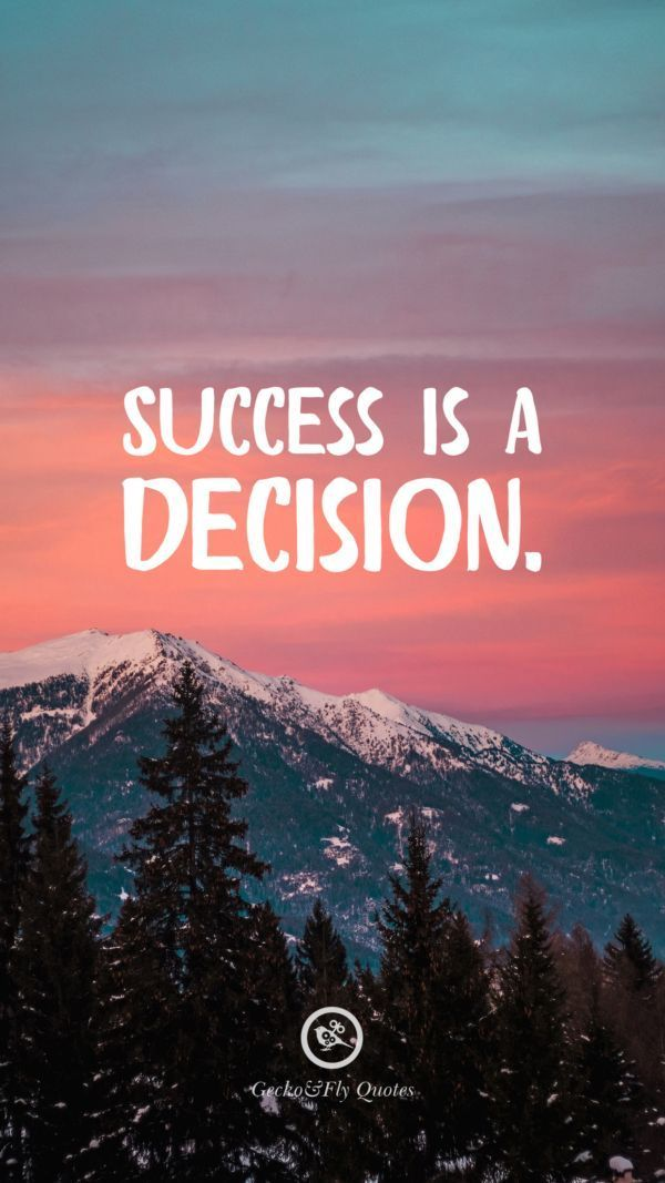 Success Is A Decision In 2020 Hd Wallpaper Quotes