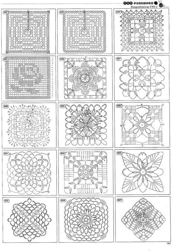 Over 1,000 crochet motifs in this site || Receitas de Crochet: Mais de 1,000 motivos de crochet