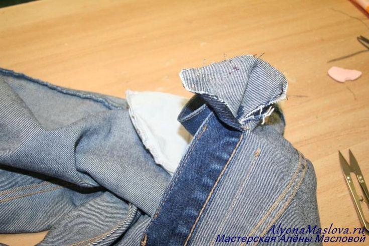 Как ушить джинсы в поясе 14