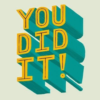 typography | you did it !