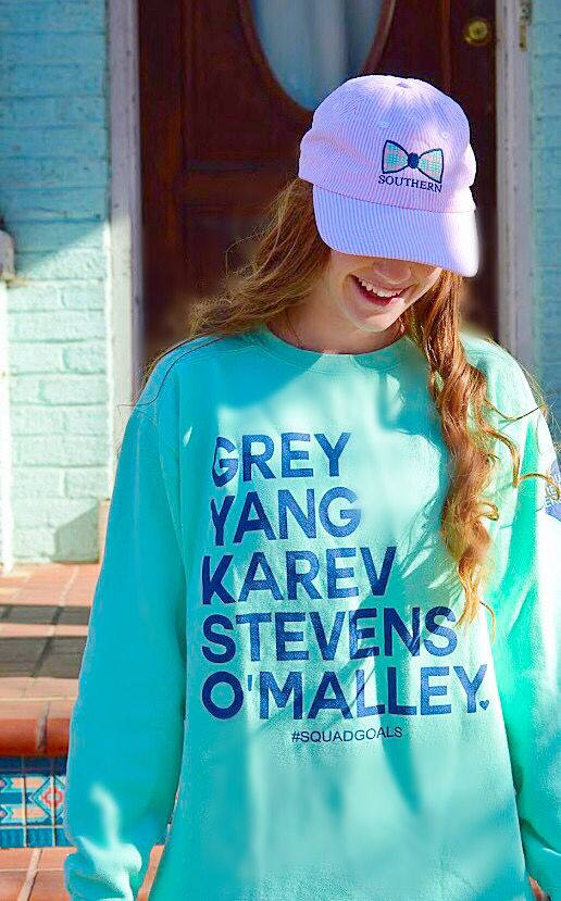 Greys Anatomy Sweatshirt from Jadelynnbrooke paired with a preppy southern hat