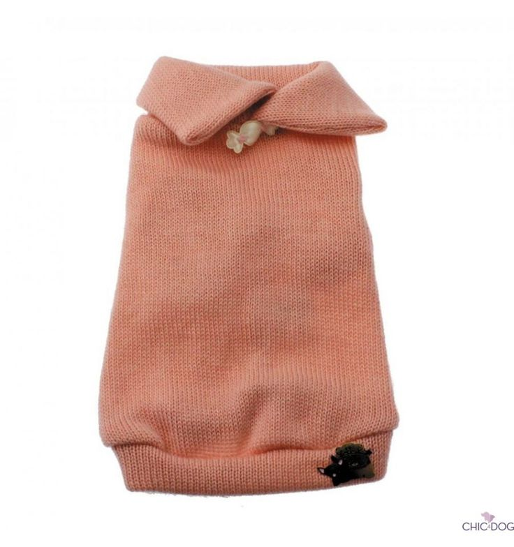 Mary - pink #dog sweater designed by Lella Su - a lovely sweater in pure cashmere | Maglioncino in cashmere per cagnoline #Chic4Dog #madeinitaly