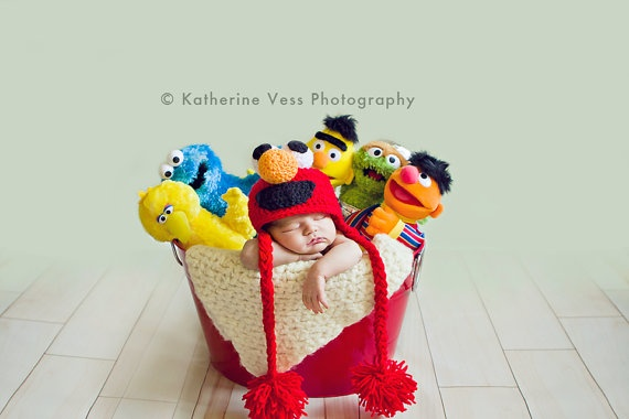 How adorable is that!!!!: Sesame Street, Newborn Baby Photography, Newborn Photography, Photo Ideas, Newborn Photos, Baby Photos, Photography Ideas, Baby Newborn Photo