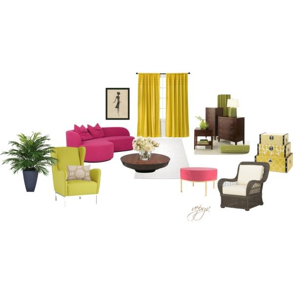 """Youthful living room"" by viktoria-vepy on Polyvore"
