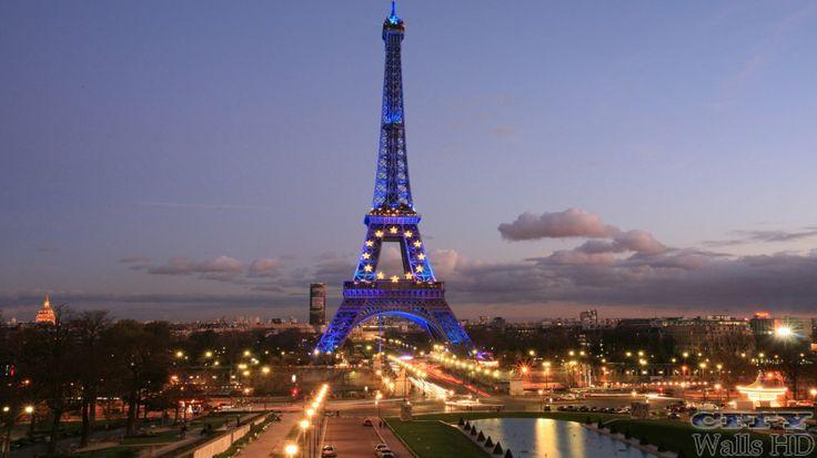 Große Tapete einzigartigen Eiffelturm