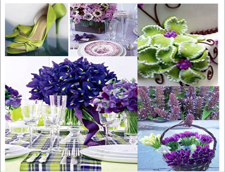 Wedding Decoration Purple And Green