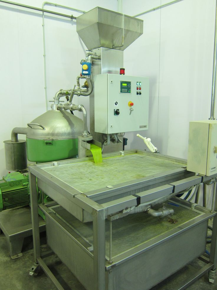 Olive oil flowing