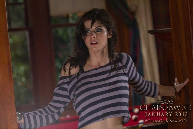 Alexandra Daddario stars as 'Heather Mills', heiress to a sinister  legacy... #TexasChainsaw3D - in theaters January 4th. (Photo credit:  Justin Lubin)